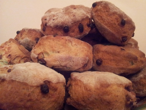 Homemade Chocolate Chip Scones with Smarties